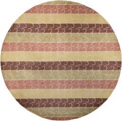 Hand-Tufted Mandara Multi New Zealand Wool Area Rug (7'9