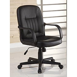 Ergonomic Black Leather Executive Office Chair