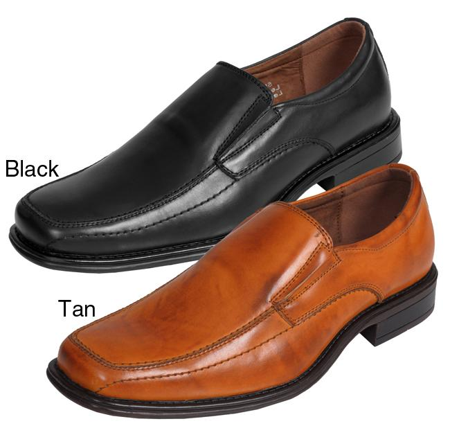 Scandro Footwear Men's Genuine-Leather Square-Toe Loafers