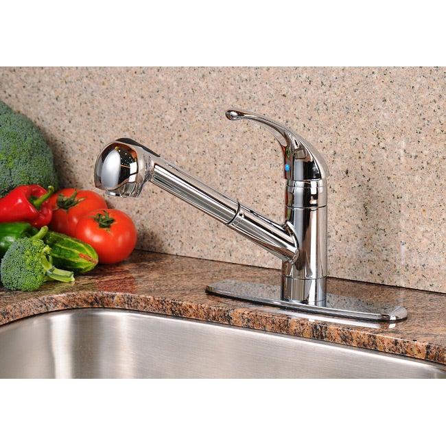 Century Chrome Pullout Kitchen Faucet