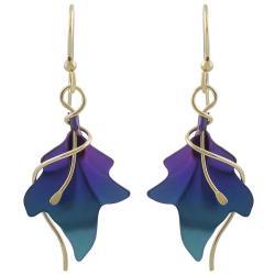 Goldfill Niobium Leaf Earrings