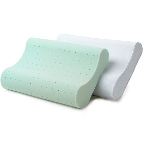 Dream Form Green Tea Memory Foam Contour Pillow