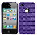 Perforated Mesh Apple iPhone 4 Rubberized Case with Screen Protector