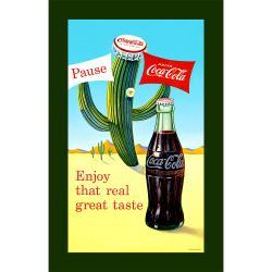 Coca-Cola Cactus Stretched Canvas Art