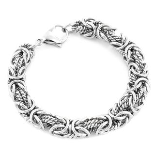 Stainless Steel Intricate Byzantine Bracelet