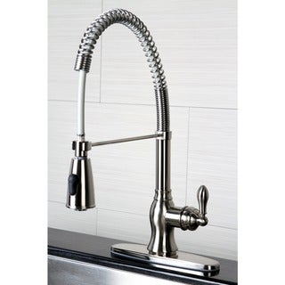 American Classic Modern Satin Nickel Spiral Pull-down Kitchen Faucet