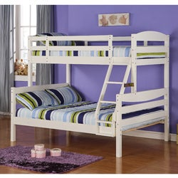 White Wood Twin/ Double Bunk Bed