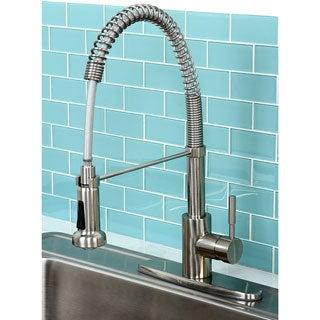 Concord Modern Satin Nickel Spiral Pulldown Kitchen Faucet