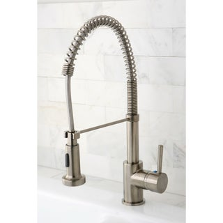 Concord Modern Satin Nickel Spiral Pulldown Kitchen Faucet