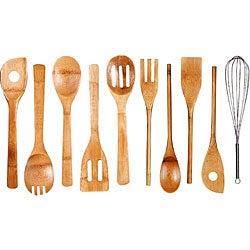Bamboo Kitchen Tool 10-piece Set