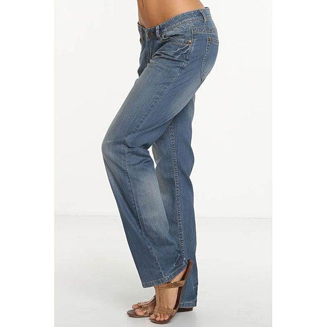 Rue Blue Women's Distressed Boyfriend Jeans