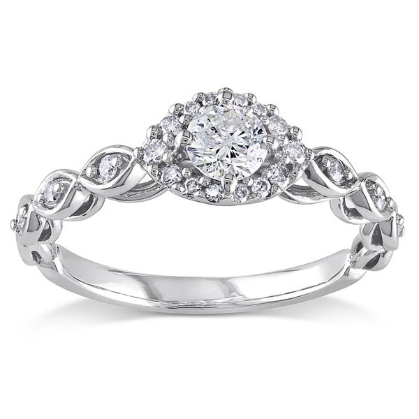 1/2 CT Diamond TW Fashion Ring 10k White Gold GH I2;I3