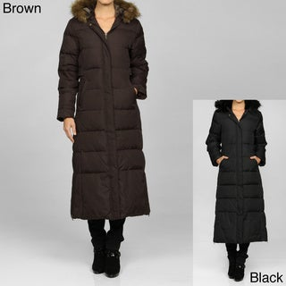 Tommy Hilfiger Women's Quilted Zip-Front Long Coat