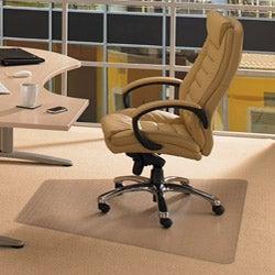 "Floortex Cleartex Advantagemat Trapezoid PVC Chair Mat (46"" x 60"") for Carpet"
