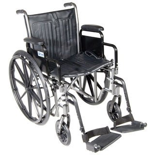 Drive Silver Sport 2 Wheelchair with Detachable Desk Arms & Footrests