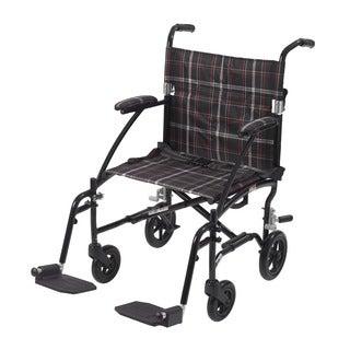 Drive Fly Lite Black 19-inch Ultra Lightweight Transport Wheelchair