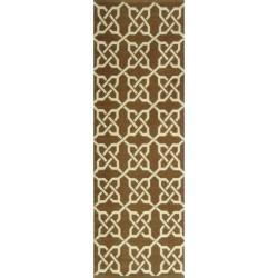 Handmade Thom Filicia Tioga Saddle Indoor/ Outdoor Rug (2' x 8')