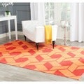 Handmade Thom Filicia Durston Blood Orange Outdoor Rug (6' x 9')