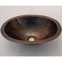 Copper 16-inch Oil Rubbed Bronze Oval Sink