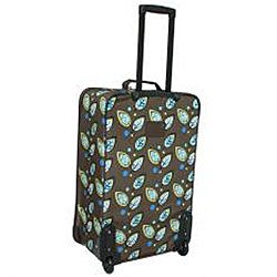 Rockland Expandable Brown Leaf 4-piece Luggage Set