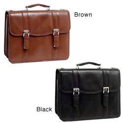 McKlein Flournoy Double-compartment Leather Laptop Briefcase