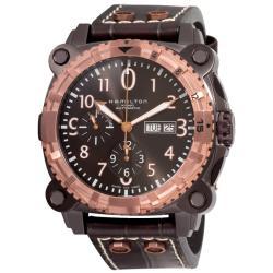 Hamilton Men's 'Khaki Navy BelowZero' Black PVD Chronograph Watch