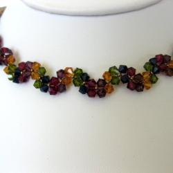 Elegant Multicolor Crystal Necklace (USA)