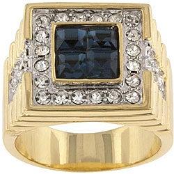 Kate Bissett Brass Men's Cubic Zirconia Fashion Ring