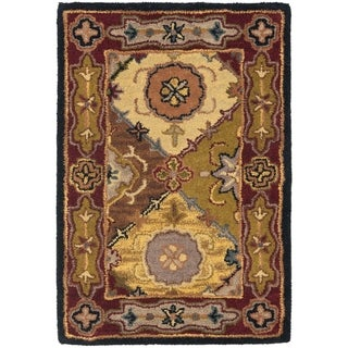 Safavieh Handmade Heritage Bakhtiari Multi/ Red Wool Rug (2' x 3')
