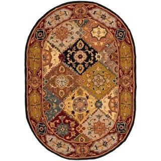 Safavieh Handmade Heritage Bakhtiari Multi/ Red Wool Rug (7'6 x 9'6 Oval)