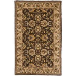 Safavieh Handmade Heritage Treasure Brown/ Ivory Wool Rug (3' x 5')