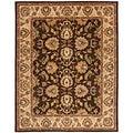 Safavieh Handmade Heritage Treasure Brown/ Ivory Wool Rug (6' x 9')