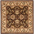 Safavieh Handmade Heritage Treasure Brown/ Ivory Wool Rug (8' Square)