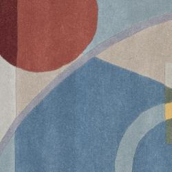 Safavieh Handmade Rodeo Drive Deco Blue/ Multi N.Z. Wool Rug (6' Square)