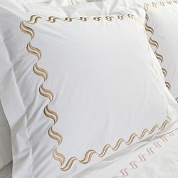Scroll Embroidery 300 Thread Count Cotton 3-piece Duvet Cover Set
