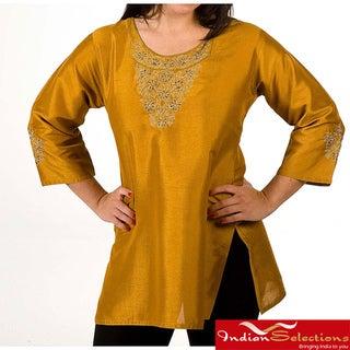 Women's Viscose Thread Embroidery Kurti/ Tunic (India)