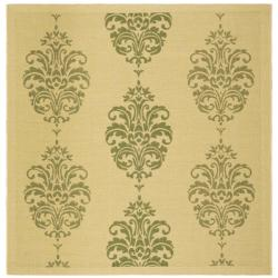 Safavieh Indoor/ Outdoor St. Martin Natural/ Olive Rug (6'7 Square)