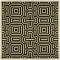 Safavieh Indoor/ Outdoor Matrix Sand/ Black Rug (7'10 Square)