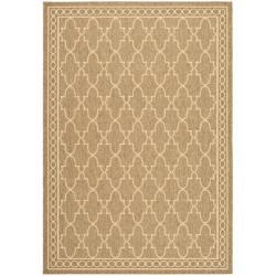 Safavieh Indoor/ Outdoor Dark Beige/ Beige Rug (2'7 x 5')