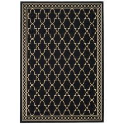 """Safavieh Indoor/Outdoor Black/Sand Area Rug (2'7"""" x 5')"""