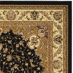 Safavieh Lyndhurst Collection Traditional Black/ Ivory Rug (9' x 12')