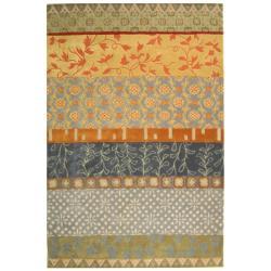 Safavieh Handmade Rodeo Drive Collage Multicolor N.Z. Wool Rug (7'6 x 9'6)