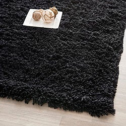 Safavieh Hand-woven Bliss Black Shag Rug (8'6 x 11'6)