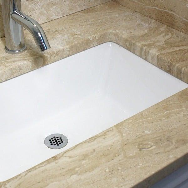 Highpoint Collection White 19x11-inch Undermount Ceramic Vanity Sink