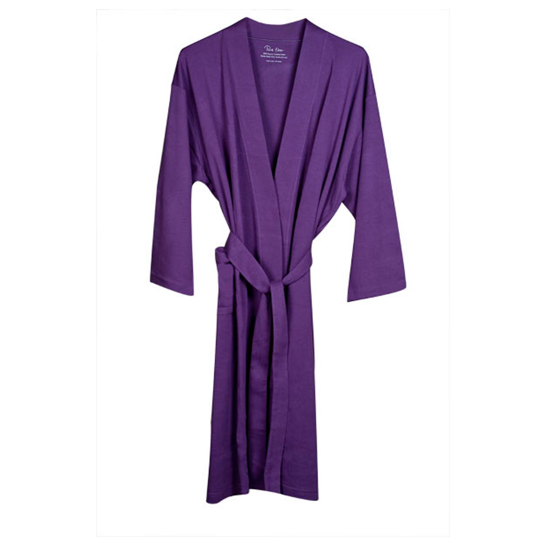 Women's Purple Organic Cotton Bath Robe