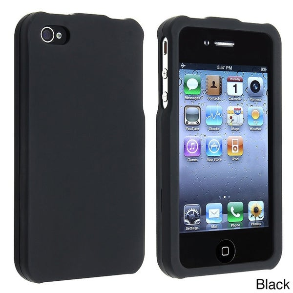 INSTEN Snap-on Apple iPhone 4 Rubber Coated Phone Case Cover