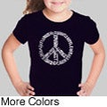 Los Angeles Pop Art Girl's Peace Symbol T-shirt