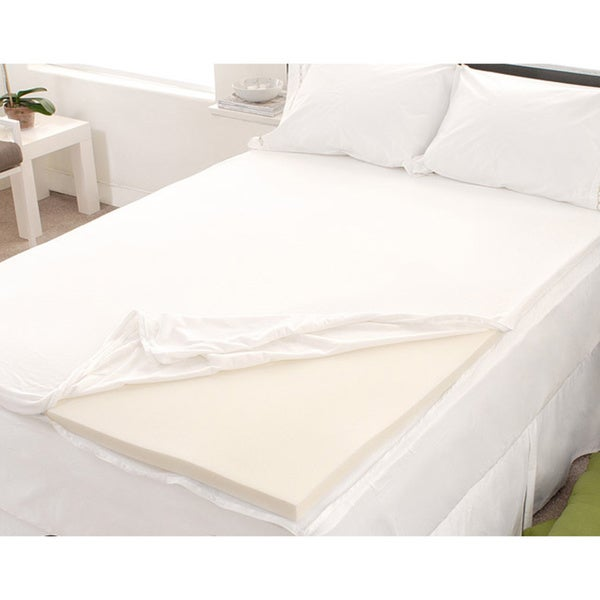 Dream Form Velour Queen Size Memory Foam Mattress Topper Cover Overstock Shopping The Best