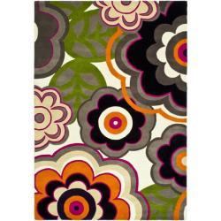 Safavieh Handmade Flower Power Ivory/ Multi N. Z. Wool Rug (9'6 x 13'6)