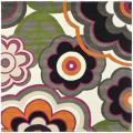 Safavieh Handmade Flower Power Ivory/ Multi N. Z. Wool Rug (8' Square)